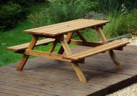 Charles Taylor Six Seater Picnic Table - Gold Series