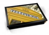 Kico Iconic Cushion 32 x 41cm Lap Tray  - Yellow Phone Box