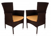 Europa Leisure Stockholm Chair Brown Pack of 2