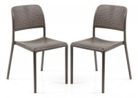 Nardi High Range Bistrot Chair Turtle Dove Pack of 2