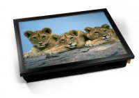 Kico Animal Cushion 32 x 41cm Lap Tray  - Lion Cubs