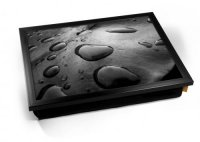 Kico Nature Cushion 32 x 41cm Lap Tray  - Black Water
