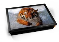 Kico Animal Cushion 32 x 41cm Lap Tray  - Tiger In Water