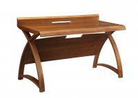 Jual Santiago Curved Walnut 1300mm Computer Table