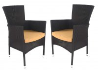 Europa Leisure Stockholm Chair Black Pack of 2