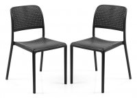 Nardi High Range Bistrot Chair Anthracite Pack of 2