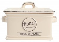 T & G Pride of Place Butter Dish in Old Cream