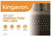 105 led outdoor solar net light