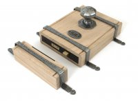 Pewter Oak Box Lock & Octagonal Knob Set