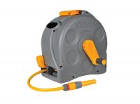 Hozelock Plus 2-in-1 Compact Reel with 25M Hose & Fittings