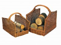 Manor Reproductions Log Basket Cutcombe - Set of 2