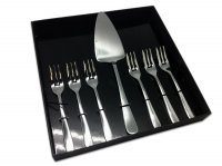 Grunwerg Cutlery Windsor Pattern 18/0 Stainless Steel 7 Piece Cake/Pie Set
