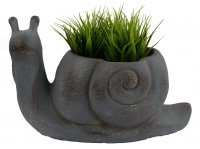 Solstice Sculptures Snail Planter 24cm Blue Iron Effect