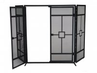 Manor Reproductions Balmoral 3 Fold - Black - 72x62 + 30 wings