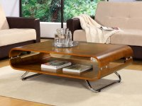 Jual San Marino Walnut Curved Wood Coffee Table