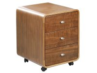 Jual Helsinki Curve Walnut Curved Wood Pedestal 3 Drawer Unit