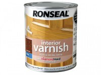 Ronseal Interior Quick Drying Varnish Satin 750ml - Dark Oak