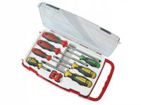 Faithfull 7 Piece Screwdriver Set + Magnetiser