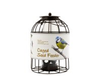 Green Jem Dome Caged Seed Bird Feeder