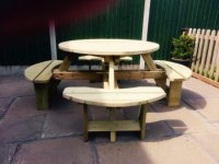 Churnet Valley Westwood Round Picnic Table