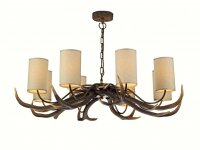 David Hunt Antler 8 Light Pendant with Shades