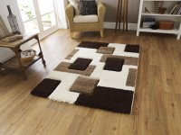 Think Rugs Fashion 7646 Ivory/Brown - Various Sizes