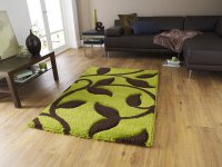 Think Rugs Fashion 7647 Green/Brown - Various Sizes