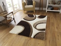 Think Rugs Fashion 7648 Ivory/Brown - Various Sizes