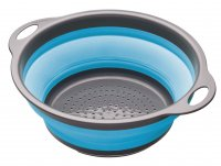 Colourworks Brights Collapsible Colander with Grey Handles Blue