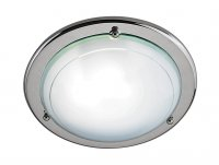 "Searchlight Jupiter 12"" Chrome Flush Ceiling Light"