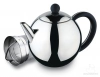 Grunwerg Rondo 50oz Polished Stainless Steel Teapot with Infuser