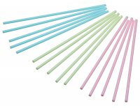 Sweetly Does It Cake Pop Sticks, Pack of 60, (Pastel Blue/Pink/Green)
