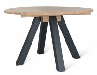 Garden Trading Clockhouse Dining Table with Carbon Legs Raw Oak