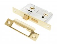 "Electro Brassed 2½"" Bathroom Mortice Lock"