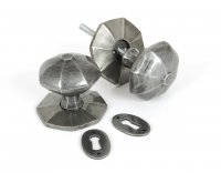 Pewter Large Octagonal Mortice/Rim Knob Set
