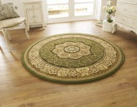 Think Rugs Heritage 4400 Green Circle - Various Sizes