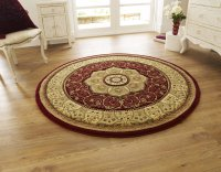 Think Rugs Heritage 4400 Red Circle - Various Sizes
