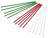 Sweetly Does It Coloured Cake Pop Sticks Pack of 60 (White/Green/Red)