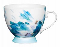 KitchenCraft Fine Bone China Footed Mug 400ml - Painted Floral