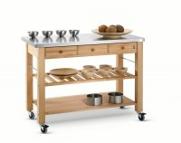 Hungerford Trolleys The Lambourn Three Drawer Stainless Steel Top Kitchen Trolley