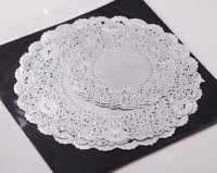 "NJ Products Assorted Silver Doilies 5/8/9"" (Pack of 20)"