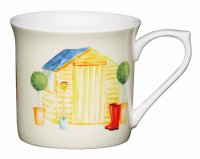 KitchenCraft Fluted Fine Bone China Mug 300ml - Garden Shed