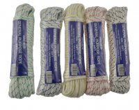 Green Jem General Purpose White Rope with Coloured Fleck 15M (Assorted Colours 1x Only)