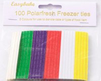 NJ Products Easybake Colour Code Freezer Ties Pack of 100