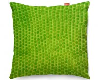 Kico Animal Skin 45x45cm Funky Sofa Cushion -  Green Snake