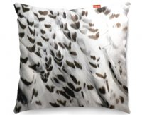 Kico Animal Skin 45x45cm Funky Sofa Cushion -  Snowy Owl