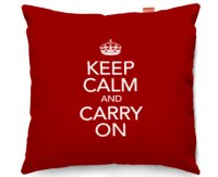 Kico Keep Calm 45x45cm Funky Sofa Cushion -  Carry On