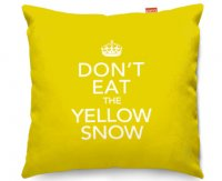 Kico Keep Calm 45x45cm Funky Sofa Cushion -  Don't Eat Yellow Snow