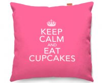 Kico Keep Calm 45x45cm Funky Sofa Cushion -  Eat Cupcakes