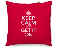 Kico Keep Calm 45x45cm Funky Sofa Cushion -  Get It On